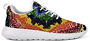 WZLAN Trippy Tie Dye Art Women's Road Running Shoes Crazy Flats Training Athletic Sneaker