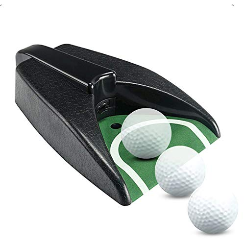 Golf Automatic Putting Cup, Indoor Golf Training Aids, Putting Green with Ball Return, Golf Ball...