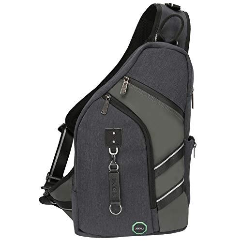 Sling Backpacks, JOCHUI Crossbody Bags for Men Women Sling Bags Purse Backpack for Travel Gym Cycling Hiking Black