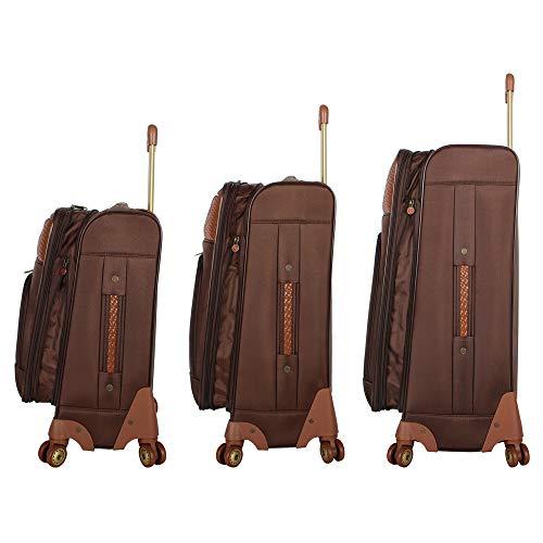 Caribbean Joe Castaway 4-Piece Spinner Luggage Set (Chocolate)