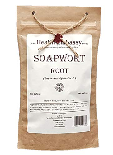 Raíz de Saponaria (Saponaria officinalis) / Soapwort Root - Health Embassy - 100% Natural (100g)
