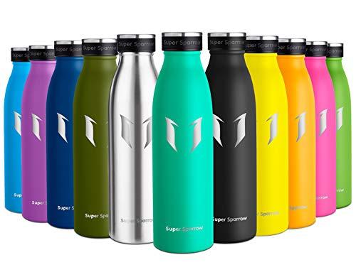 Super Sparrow Botella de Agua Acero Inoxidable- 350ml - sin BPA - islamiento de Vacío de...