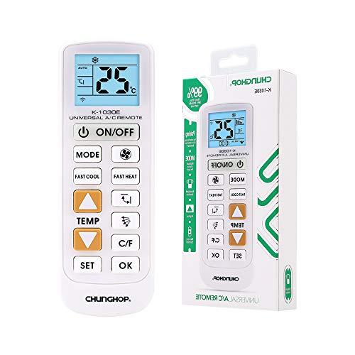 Richgv Telecomando Universale per Condizionatore Climatizzatore, AC Condizionatori con Funzione di Cool/Heat Compatibile con la Maggior Parte dei Marchi,con LED Retroilluminato e Pulsante Grande