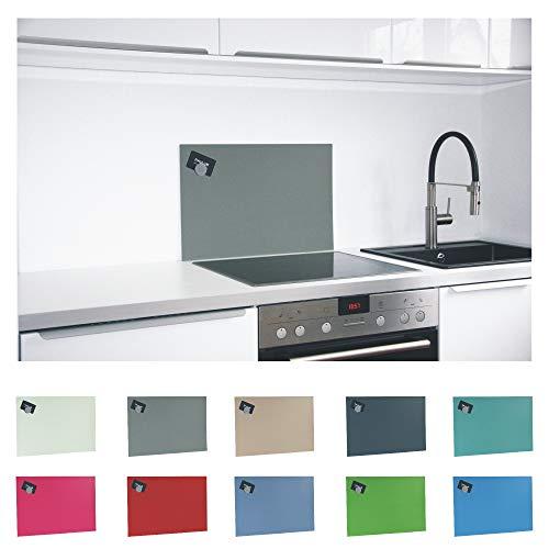 Paulus Spritzschutz Küche Herd Küchenrückwand magnetisch 60x40cm grau, RAL-7023 betongrau