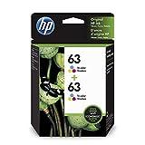 Get HP 63 | 2 Ink Cartridges | Tri-color | Works with HP DeskJet 1112, 2100 Series, 3600 Series, HP ENVY 4500 Series, HP OfficeJet 3800 Series, 4600 Series, 5200 Series | F6U61AN Just for $57.34