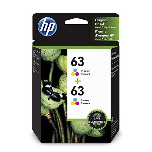 HP 63 | 2 Ink Cartridges | Tri-Color | F6U61AN, 1VV67AN#140