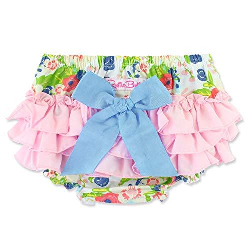 Rufflebutts(ラッフルバッツ) ブルマ パンツ 女の子 18-24M 花柄ピンク×バックリボン ベビー おむつカバー [並行輸入品]