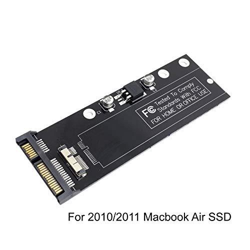 Cablecc Koverter / Adapter, PCBA 12 + 6 Pin SSD HDD auf SATA 22-Pin Festplatten-Kassettenlaufwerk, für Apple 20102011MacBook Air A1369A1370SSD