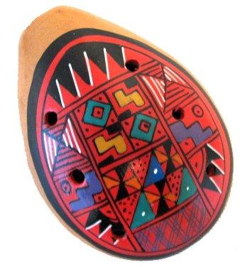 "12 One Dozen 2.25"" Ocarina Whistles Wholesale Pack Peru Hand Made Sanyork Fair Trade"
