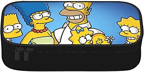 The Simpsons - Monedero de lona con cremallera para monederos y monederos para mujeres, hombres, niños