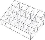 Recet Joyero, caja de almacenamiento cosmética, organizador de pintalabios, soporte para maquillaje, transparente, 24 celdas