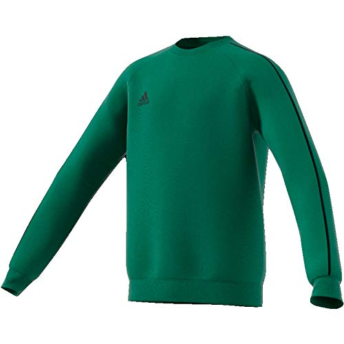 adidas Kinder Core 18 Sweat Top Sweatshirt, bold green/Black, XL (Manufacturer size:164)