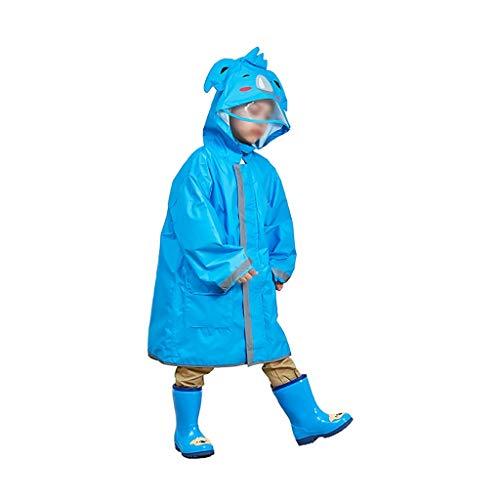 Z-Brand regenjas voor kinderen regenjas waterdichte luifel regenponcho regen dragen schattig unisex storm jas voor jongens en meisjes (kleur: B, grootte: 109 * 50 * 92 cm)