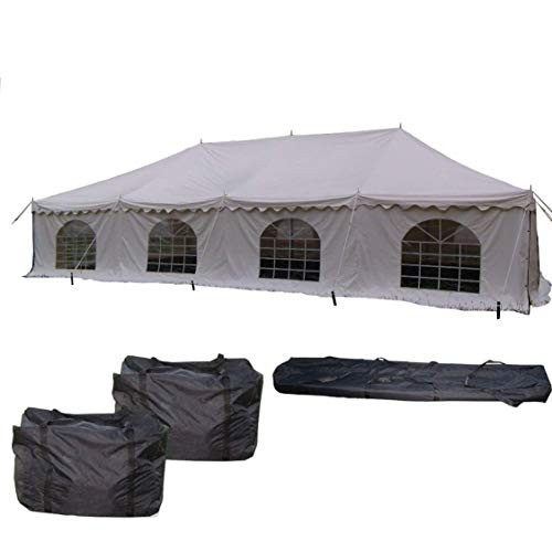 40'x20' PVC Pole Tent - Heavy Duty Party Wedding Canopy Shelter - With Storage Bags - By DELTA Canopies