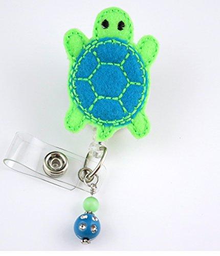Blue Sea Turtle - Nurse Badge Reel - Retractable ID Badge Holder - Nurse Badge - Badge Clip - Badge Reels - Pediatric - RN - Name Badge Holder