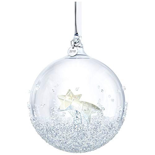 Swarovski Christmas Ball Ornament, A.E. 2018, Cristallo, Multicolore, 9.9x 8x 8cm,