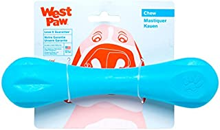 West Paw Zogoflex Hurley Dog Bone Chew Toy – Floatable Pet Toys for Aggressive Chewers, Catch, Fetch – Bright-Colored Bones for Dogs – Recyclable, Dishwasher-Safe, Non-Toxic, Large, Aqua