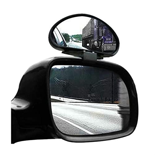 MAMINGGANG MMGANG 2 x Espejos de ángulos Muertos Ajuste de Gran Angular Ajustable para camioneta de Coche (Color : Black)