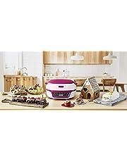 TEFAL Machine intelligente à gâteaux Appareil cuisson convivial Pâtisserie muffins 3 Moules Fouet et spatule inclus 5 Programmes
