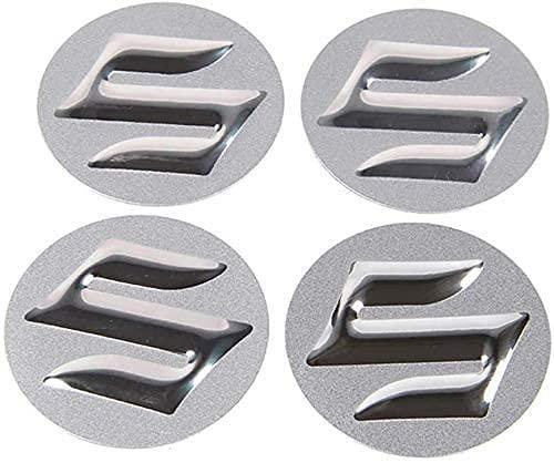 4 cubiertas de buje central de coche para Suzuki Samurai SJ4 13 Grand Vitara SX4 S Cross Swift Jimny GSR 600 ITZ 400, 56 mm centro de rueda logo insignia pegatina forma de neumático