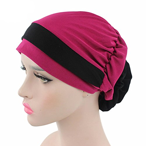 Suberde 1PC Muslim Stretch Turbante Cappello Cancro Chemo cap Perdita di Capelli Headwrap Testa Sciarpa Rose