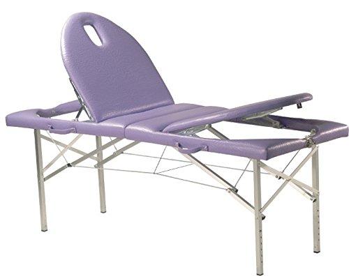 MESA de terapia, Camilla de masaje, móvil, Variable altura, Cabeza PATA ajustable - N º 70. Azul Cobalto