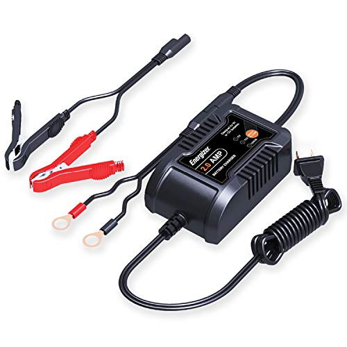2 Amp Battery Charger & Maintainer for 6/12V Batteries with 7 Step-Smart Charging Technology