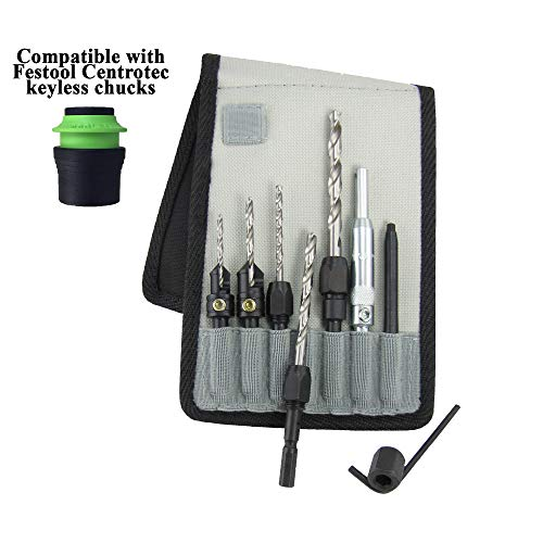 Snappy Tools Handy Man's Set in Belt Clip Pouch, Fits Festool Centrotec Chucks #92352