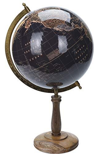 made2trade Globus im Retro Design - Schwarz - 32cm