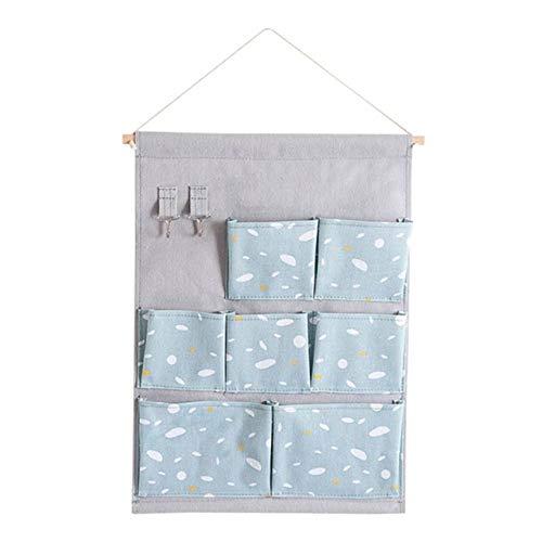 CCEKD Hängende Lagerung Home Door Zurück Hanging Bag Closet Aufbewahrungstasche Multifunktions-Wandbehang Debris Organizer Bags, Blau 1