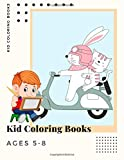 Kid Coloring Books Ages 5-8: Dinosaur , Unicorn & Animal Coloring Book Cartoon For Boys, Girls Toddlers & Teens Or Adult Best Xmas & Birthday Gifts With 250 Full Colour Pages Vol 11