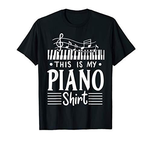 Klavier Piano Pianist Klavier-Spieler Instrument Musiklehrer T-Shirt