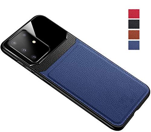 Business Leather Premium Case voor Samsung Galaxy S20 / S20Plus / S20Ultra Telefoonhoes Ultradunne spiegel Gehard glas Achterkant Draadloos opladen Compatibel leer,Blue,for Samsung S20