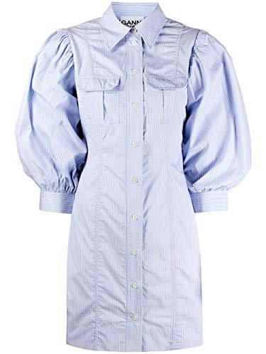 Luxury Fashion   Ganni Dames F4649699 Blauw Katoen Jurken   Lente-zomer 20