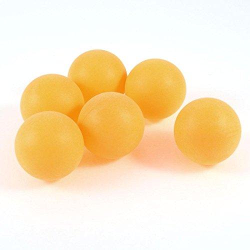 Komonee Color Liso Ping Pong Pelotas de Tenis de Mesa 40 mm Naranja (Paquete de 150)