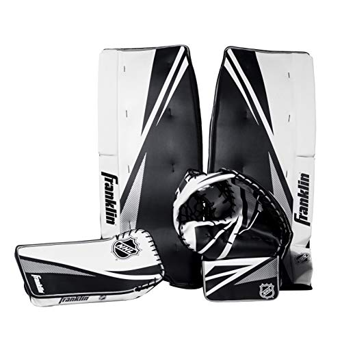 Franklin Sports Street Hockey Goalie Equipment Set - NHL Youth Street Hockey Goalie Pads - Leg Pads, Catch Glove, and Blocker - Youth Goalie Gear