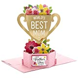 Hallmark Pop Up Mothers Day Card (Displayable World's Best Mom Trophy)