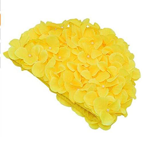 Vintage Floral Petal Retro Swim Caps Gorros de baño para Mujeres,d