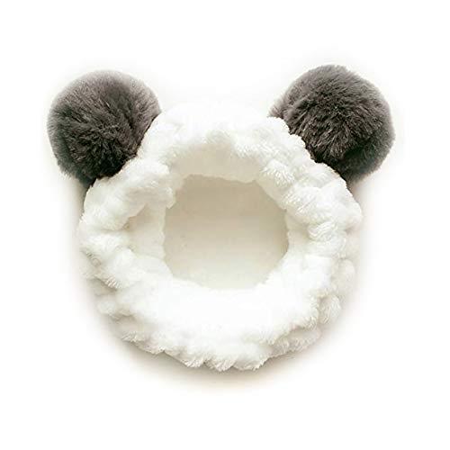 iPobie Spa Stirnband, Haarband Frauen Gesichts Make-up Kopfband, Elastisches Haarband Weichkorallen Fleece Haarreif für Damen Gesichtspflege
