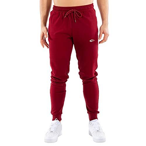 SMILODOX Herren Jogginghose Fantastic   Trainingshose für Sport Fitness Gym Training & Freizeit   Sporthose - Jogger Pants - Sweatpants Hosen - Freizeithose Lang, Größe:XXXL, Farbe:Bordeaux