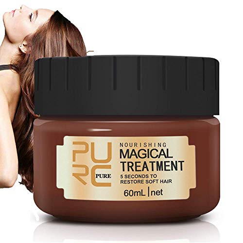 Magical Treatment Hair Mask, Advanced Molecular Hair Roots Treatment Hair Conditioner, 5 Seconds to Restore Softer Hair Professional for Damaged, Dry Hair 60ml