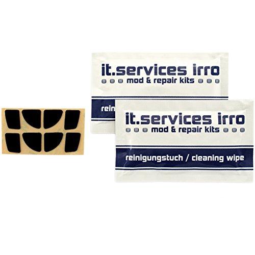 Preisvergleich Produktbild IT-Services Irro 2X Sets Glides / Mausgleiter passend für Logitech Anywhere MX 2,  inkl. 2 Reinigungspads