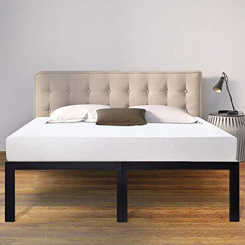 Sleeplace 18 Inch High Profile Heavy Duty Steel Slat/Basic Home Furniture/Unique Design/Mattress...