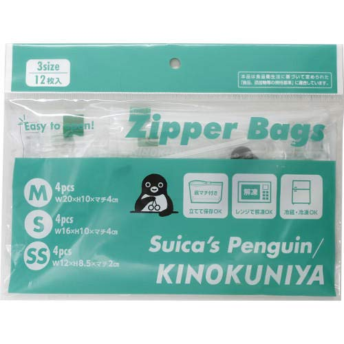 紀ノ国屋『KINOKUNIYA スライドジッパーバッグ Suicaペンギン アソートパック』