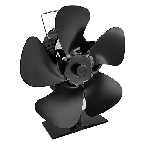 Seii Ventilador de estufa de leña Ventilador de estufa de energía térmica Ventilador de estufa de 5 aspas mejorado Motores silenciosos Para chimenea de leña security