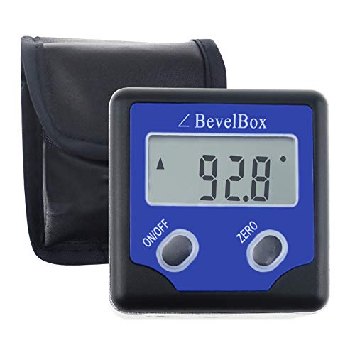 Digitale Hoek Finder/Bevel Box/Bevel Gauge Stof Waterdichte Protractor/Inclinometer IP54 tarief met 3 ingebouwde Magneten (Bevel Box Hoek Finder)