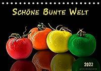 Schoene bunte Welt (Tischkalender 2022 DIN A5 quer): Die Welt ist bunt, schoene Farben gibt es ueberall. (Monatskalender, 14 Seiten )