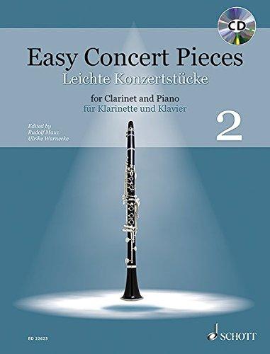 Easy Concert Pieces: 22 Pieces from 4 Centuries. Band 2. Klarinette und Klavier. Ausgabe mit CD.