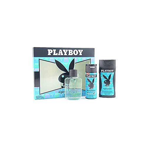 PLAYBOY GENERATIE VOOR HEM EDT 100ML + DEODORANT 150ML + GEL 250ML