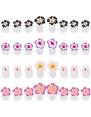 PIXNOR 32 Piezas Separadores de Dedos de Silicona Separadores de Dedos de Flores Separadores de Pedicura Reutilizables Arte de Uñas Esmalte de Manicura Protectores de Pedicura